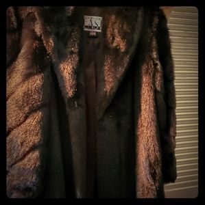 Boulevard East faux mink Fur long coat